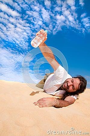 Thursty man got water