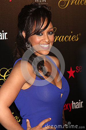 Tia Mowry-Hardrict arrives at the 37th Annual Gracie Awards Gala Editorial Stock Photo