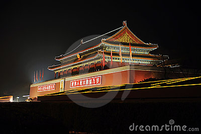 Tian An Men gate Editorial Stock Photo