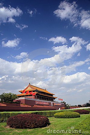 Tian-An-Men Gate, Beijing Editorial Stock Photo