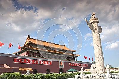 Tian-An-Men Gate, Beijing Editorial Photo