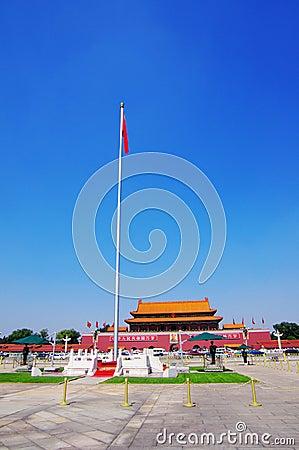 Tian An Men Gate in Beijing China Editorial Image