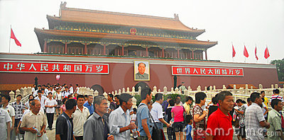 A Tian an Men Square View Editorial Stock Image