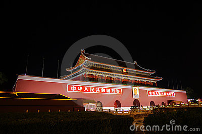 Tiananmen Gate in Beijing China Editorial Photography