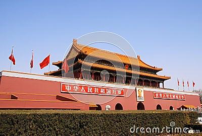 Tiananmen gate in Forbidden city (Beijing,China) Editorial Stock Photo