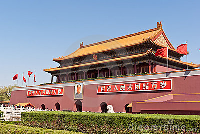 Tiananmen or Gate of Heavenly Peace. Editorial Stock Image