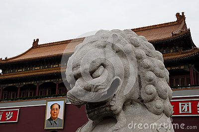 Tiananmen s gate tower - China Editorial Image