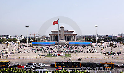 Tiananmen Square in Beijing, China Editorial Stock Image