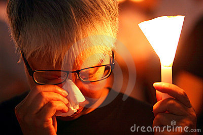 Tiananmen Vigil in Hong Kong Editorial Photo