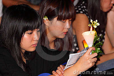 Tiananmen Vigil in Hong Kong Editorial Stock Photo