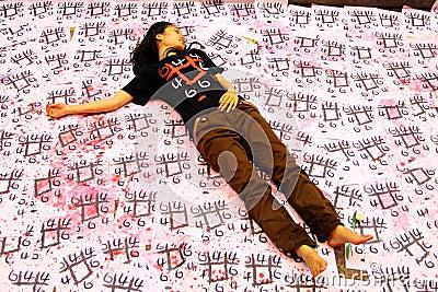 Tiananmen Vigil in Hong Kong 2009 Editorial Photo