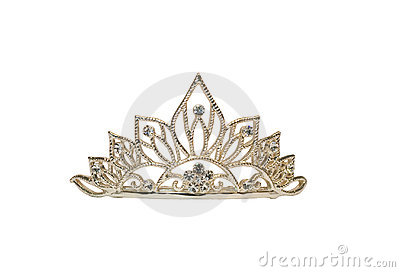 Tiara or crown or diadem isolated