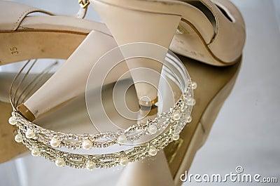 Tiara and shoes