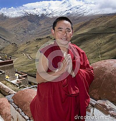 Tibet - Buddhist Monk - Himalayas Editorial Photography