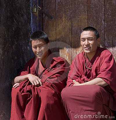 Tibet - Buddhist Monks Editorial Stock Photo