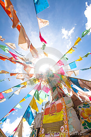 Free Tibet Flags Royalty Free Stock Images - 35253299