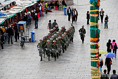 Tibet force Editorial Image