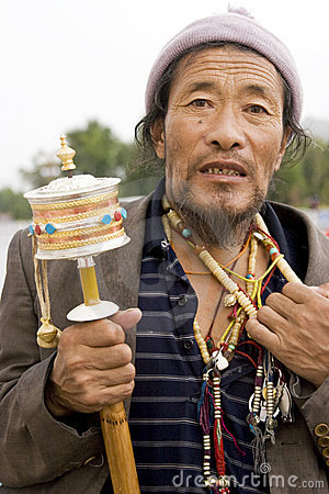Tibet man Editorial Photo