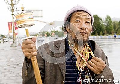 Tibet man Editorial Photography