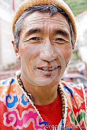 Tibet man 2 Editorial Stock Photo
