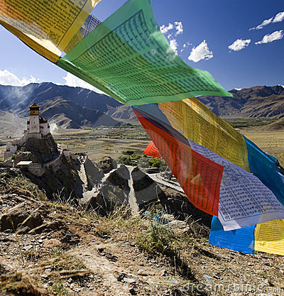 Tibet - Prayer Flags - Himalayas