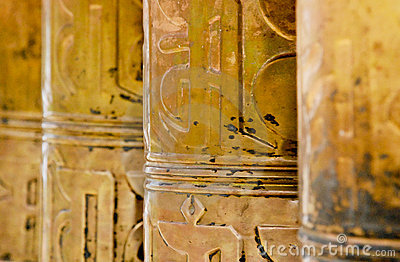 Tibet - Prayer wheels