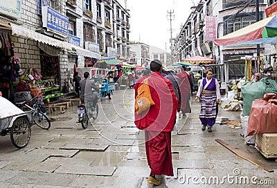 Tibet street Editorial Photography