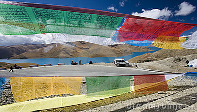 Tibet - Yamdrok High Pass - Prayer Flags