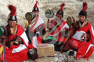 Tibetan beggars Editorial Image