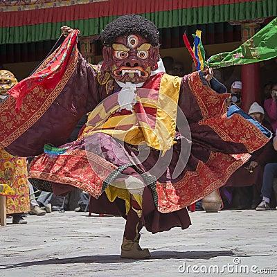 Free Tibetan Buddhist Lamas In The Mystical Masks Perform A Ritual Tsam Dance . Hemis Monastery, Ladakh, India Stock Photo - 59579520