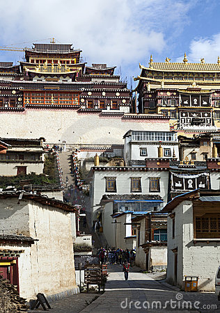 Tibetan Buddhist Monastery Editorial Stock Photo