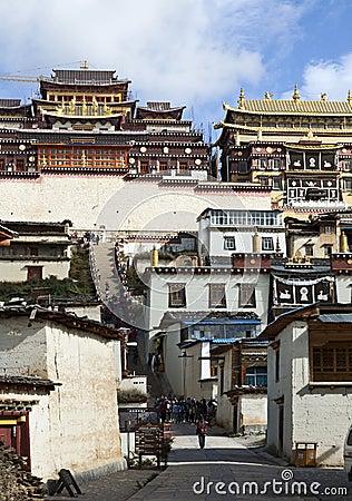 Tibetan Buddhist Monastery Editorial Stock Photo