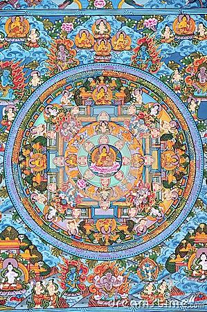 Free Tibetan Buddhist Thangka Stock Images - 6433564