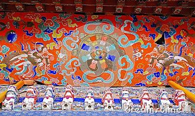 Tibetan ceiling painting