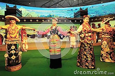 Tibetan clothing show Editorial Photo
