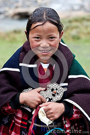 Tibetan girl Editorial Stock Image