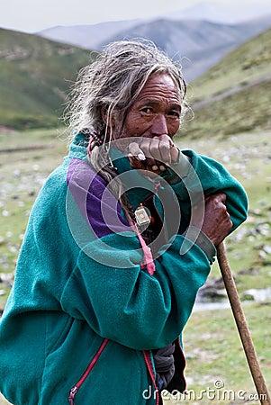 Tibetan herdsman Editorial Image