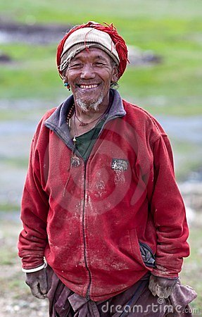 Tibetan herdsman Editorial Photography