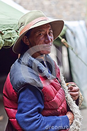 Tibetan herdsman Editorial Photo