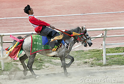 Tibetan Horse Racing Editorial Image