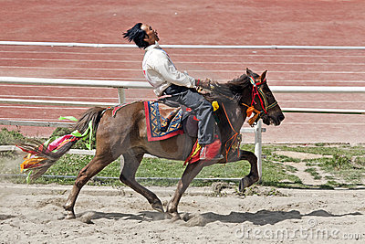 Tibetan Horse Racing Editorial Stock Photo