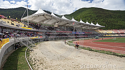 Tibetan Horse Racing Editorial Image