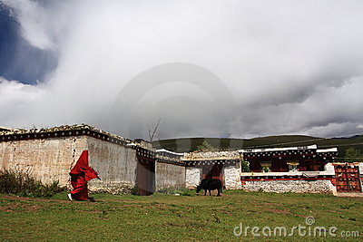 Tibetan house Editorial Stock Photo