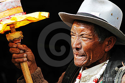 Tibetan man Editorial Photo
