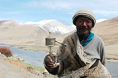 Tibetan man Editorial Stock Photo