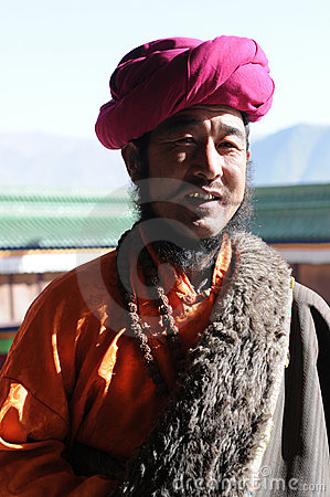 Tibetan man Editorial Image
