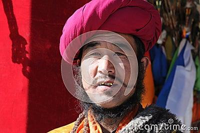 Tibetan man Editorial Photography