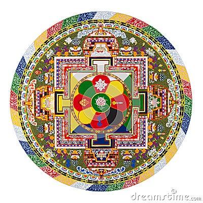 Free Tibetan Mandala Royalty Free Stock Photo - 3698075