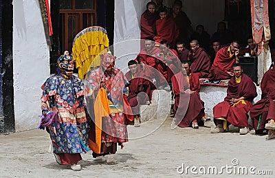 Tibetan Mask Dance 1 Editorial Photo