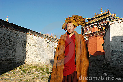 Tibetan monk Editorial Image